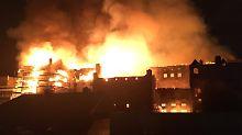 Zum zweiten Mal in vier Jahren: Inferno zerstört Glasgower Kunsthochschule