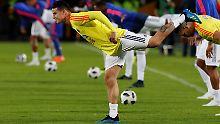 Kolumbiens WM-Rekordtorschütze James Rodriguez will auch gegen Japan knipsen.