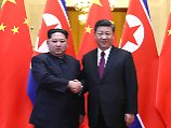 Kim Jong Un und Xi Jinping beim Treffen Ende März.