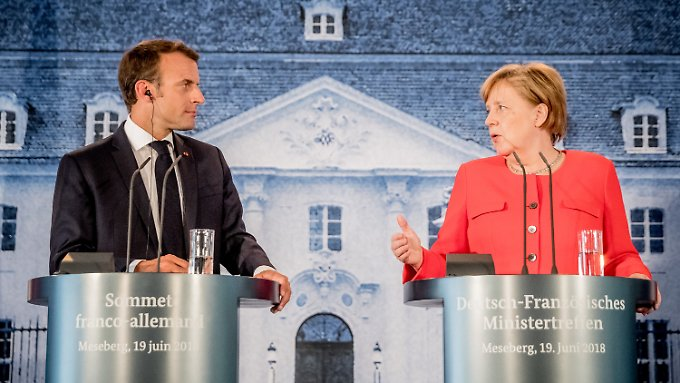 Hilfe im Asylstreit: Macron stärkt Merkel den Rücken