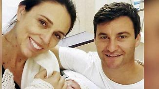 Politische Baby-News in Neuseeland: Premierministerin Ardern bringt Mädchen zur Welt