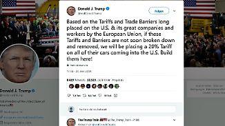 Drohung gegen europäische Autobauer: Trump tobt wegen EU-Strafzöllen