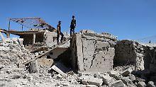 Waffenruhe gebrochen: Russische Jets greifen Rebellengebiete an