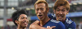 Heute fangen wir einfach mal mittendrin an. Also: Japan hat gespielt ...
