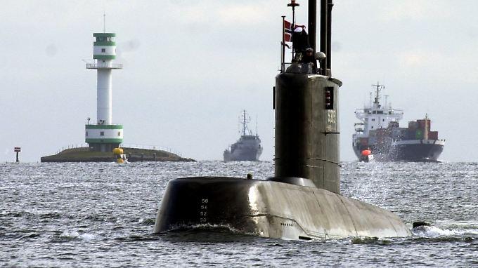 Norwegisches U-Boot im Kieler Hafen