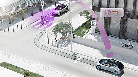VW setzt auf die C2X-Technik zur Fahrzeugkommunikation.