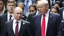 Beim Gipfeltreffen zwischen dem russischen Staatschef Wladimir Putin und US-Präsident Donald Trump will Russland nicht über die annektierte Krim diskutieren.