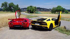 Lamborghini Countach LP 500 S und Aventador S einen nicht nur die Flügeltüren.