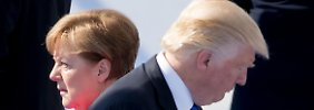 Trump fordert höhere Verteidungsausgaben - unter Anderem von Bündnispartnerin Merkel.