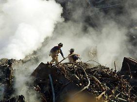 Aufräumarbeiten am Ground Zero in New York.