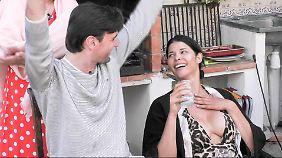 """Im """"Sommerhaus der Stars"""" ist Schäfer mit ihrem Freund Felix Steiner."""