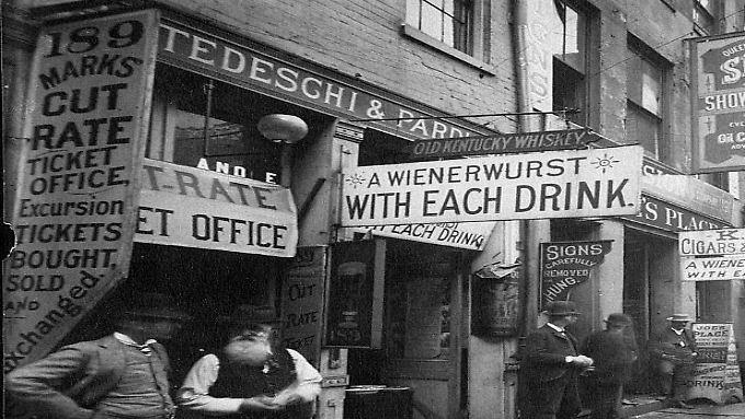 Bier und Wurst: Die Vine Street des ausgehenden 19. Jahrhunderts war eine sehr deutsche Straße.