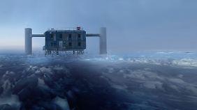 Die IceCube-Beobachtungsstation am Südpol.
