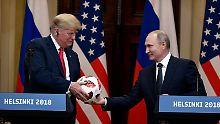 Putin und Trump suchen Einigkeit: So einfach soll das sein