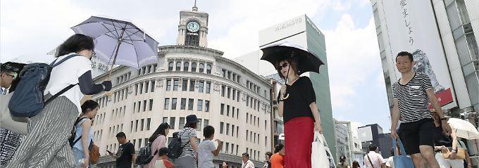"Großstädte bald unbewohnbar?: Japan ächzt unter ""lebensbedrohlicher"" Hitze"