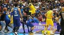 Nach Länderspiel-Eklat: Fiba bestraft prügelnde Basketballer hart