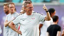 Leipzig-Coach Ralf Rangnick zeigte sich bei seinem Trainer-Comeback gewohnt engagiert.