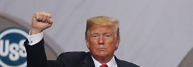 """Trump spuckt große Wachstumstöne: US-Wirtschaft boomt """"unglaublich"""""""
