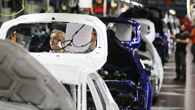 Produktion bei Ford in Köln.