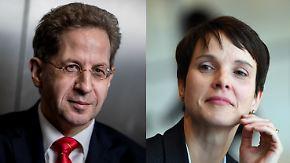 Vorwürfe von AfD-Aussteigerin: Verfassungsschutzchef Maaßen soll Petry beraten haben