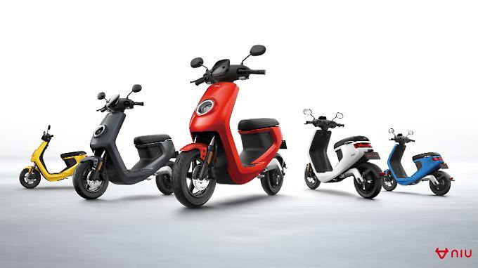 Ein starker Newcomer auf dem E-Roller-Markt ist der chinesische Anbieter Niu, der gleich mehrere Modelle im Angebot hat.