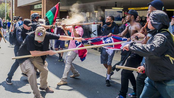 Die tödlichen Proteste in Charlottesville vor einem Jahr hatten in den USA eine Welle der Empörung ausgelöst.