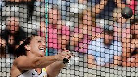 Kathrin Klaas erreichte trotz verpasster Quali-Weite das Hammerwurf-Finale der EM.