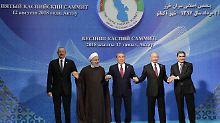 """Deal """"von epochaler Bedeutung"""": Anrainerstaaten teilen Kaspisches Meer auf"""