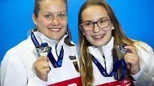 Achte EM-Medaille in Edinburgh: Synchron-Duo springt überraschend zu Silber