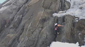 Zwei Stunden für 4200 Meter: Schweizer bezwingt Grandes-Jorasses-Nordwand in Rekordzeit