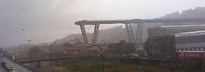 Unglück in Genua: Einstürzende Autobahnbrücke wird zur Todesfalle