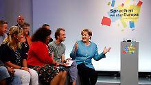 Merkels Bürgerdialog in Jena: Sommerpause vorbei, Probleme noch da