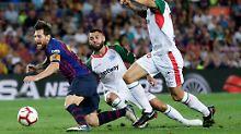 Messi rettet zähes Spiel: Barca startet mit Pflichtsieg in die Saison