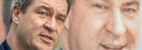Kurz vor der Bayernwahl: Söder besinnt sich auf die CDU