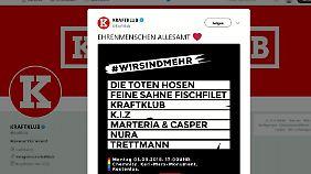 Die Toten Hosen, Kraftklub & Co.: Musiker laden zum Konzert gegen Rechts in Chemnitz