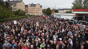 """""""Pro Chemnitz""""-Kundgebung."""