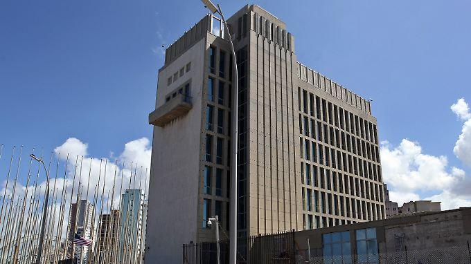 Die US-Botschaft in Havanna könnte Ort eines Anschlag mit Wellen geworden sein.