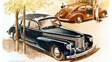 Opels legendäres Flaggschiff Kapitän lief vor 80 Jahren vom Stapel, hier eine Werbung von 1938.