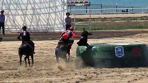 Tote Ziegen und großartige Gene: Nomaden-Olympiade überstrahlt Probleme Kirgisistans