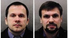 Die beiden vermutlichen Skripal-Attentäter Alexander Petrow und Ruslan Boschirow.