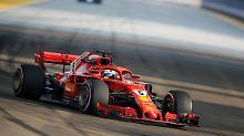 WM-Dämpfer in Singapur: Vettel baut Trainingsunfall, Räikkönen Bester
