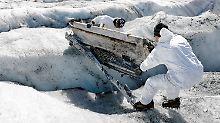 Einst Bruchlandung auf Gletscher: Flugzeugwrack nach 72 Jahren geborgen