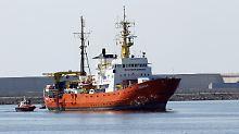 """Kurs auf Marseille: """"Aquarius"""" sucht wieder einen Hafen"""