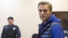 Nach acht Stunden Gewahrsam: Nawalny muss wieder ins Gefängnis