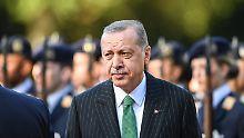 Schwieriger Gast in Berlin: Recep Tayyip Erdogan.