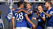 Er war's: Schalkes Alessandro Schöpf mit der Nummer 28.