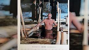 Showmaster Putin als Kalender erhältlich: Russen verehren ihren fotogenen Präsidenten