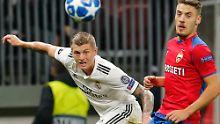 Toni Kroos verliert mit Titelverteidiger Real Madrid bei ZSKA Moskau.