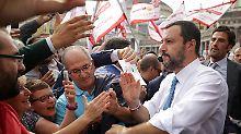 """""""Wir werden nicht zurückgehen"""", droht Lega-Chef Matteo Salvini. Entzündet er die Euro-Krise erneut?"""