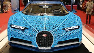 Heimspiel für Frankreichs Autogiganten: Bugatti baut Chiron aus einer Million Legosteinen